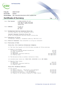 Certificate of Currency Pest And  Building Page1